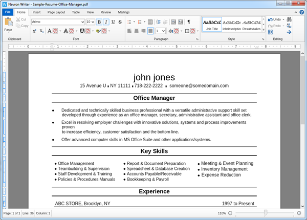step 2 save your word document as pdf