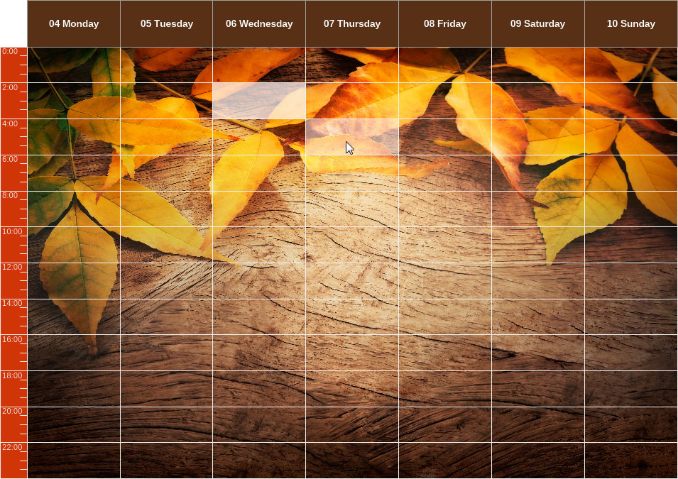 Autumn Leaf Calendar