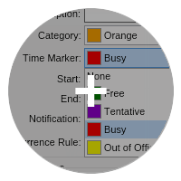 Categories and time markers small