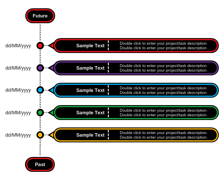 Time Projects Diagram Template