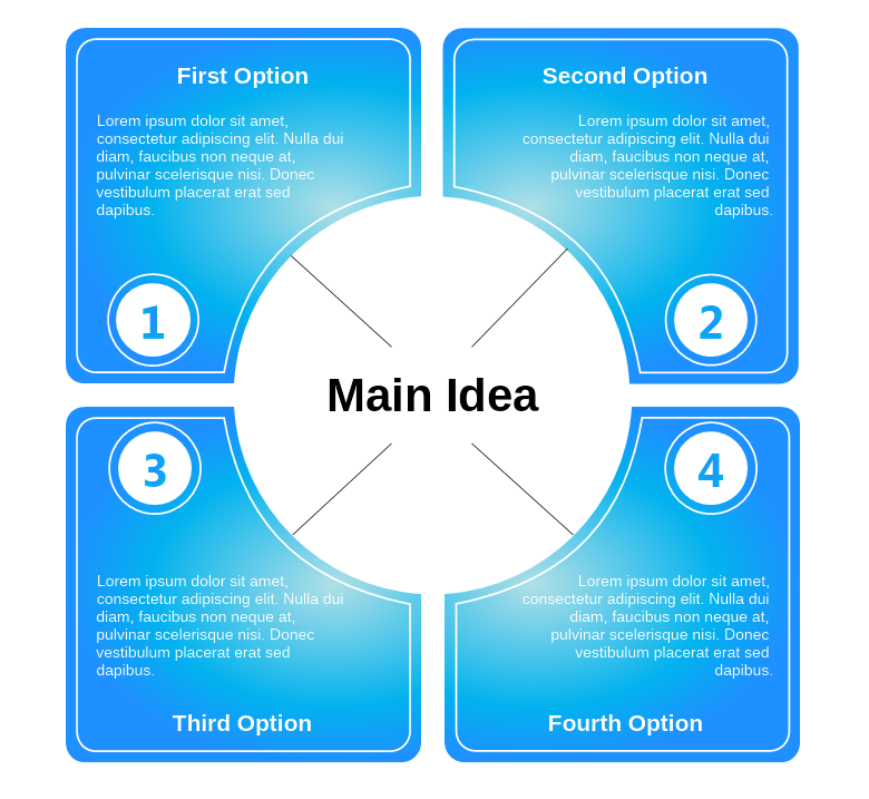Blue Mind Map Diagram Template