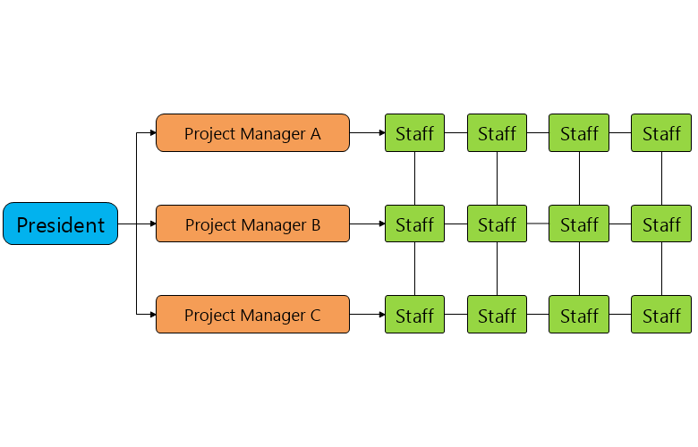 Project Structure Organizational Chart