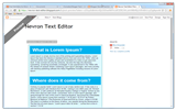 Adding formatted text to blogger
