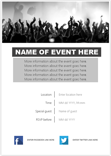 Event Invite BW